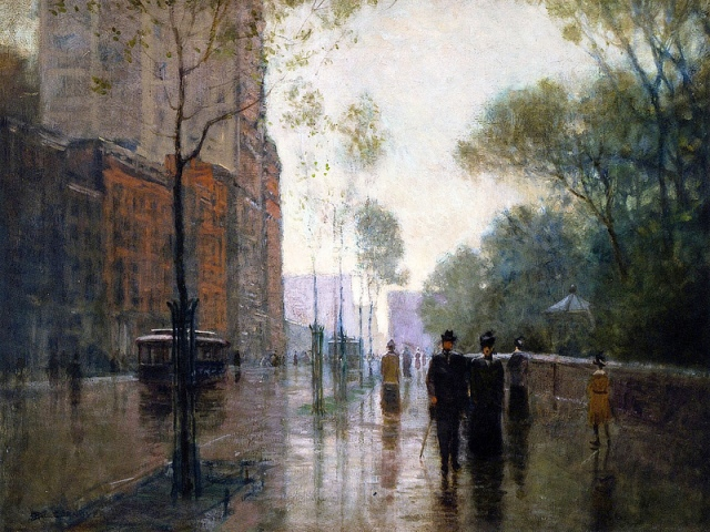 Paul Cornoyer, A Rainy Day in New York City